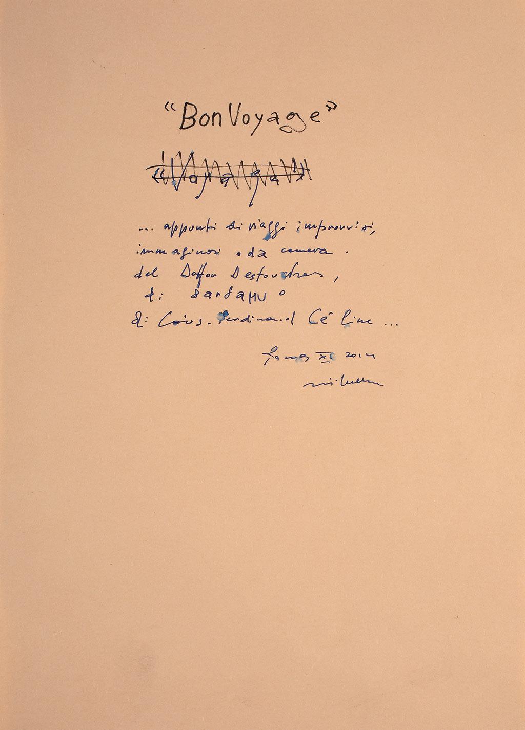 BON VOYAGE… VIAGGIO IMMAGINARIO DEL DOTTOR DESTOUCHES, BARDAMU, L.F. CÉLINE