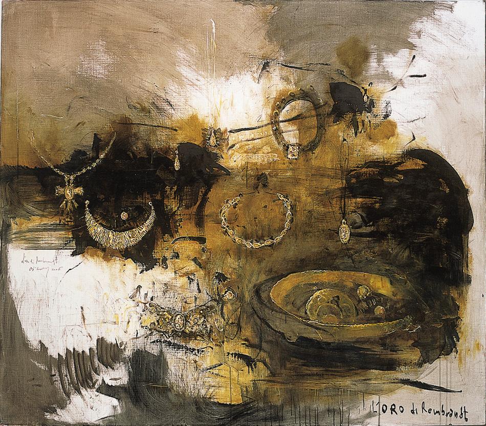 L'oro di Rembrandt, 2006, tecnica mista su tela, cm 140 x 160 .