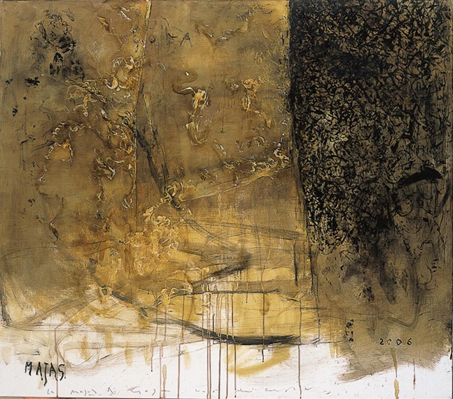 Le Mayas di Goya, 2006, tecnica mista su tela, cm 140 x 160.
