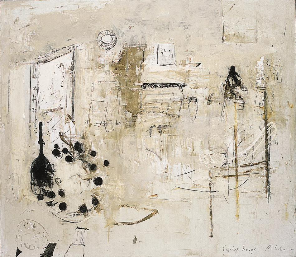 L'Atelier di Matisse, 2006, tecnica mista su tela, cm 140 x 160.
