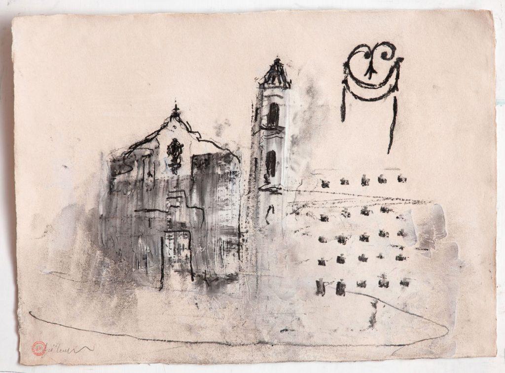 Arcidiocesi di San Cristobal de la Habana, 2015, tecnica mista su carta, cm 56 x 76