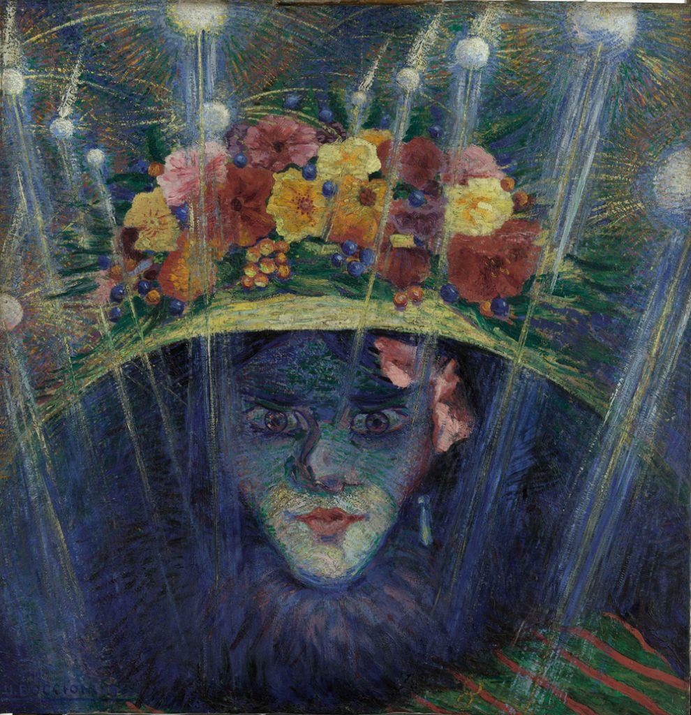Boccioni, Idolo Moderno, 1911, olio su tavola, cm 60 x 58,4. Courtesy Estorick Collection, London