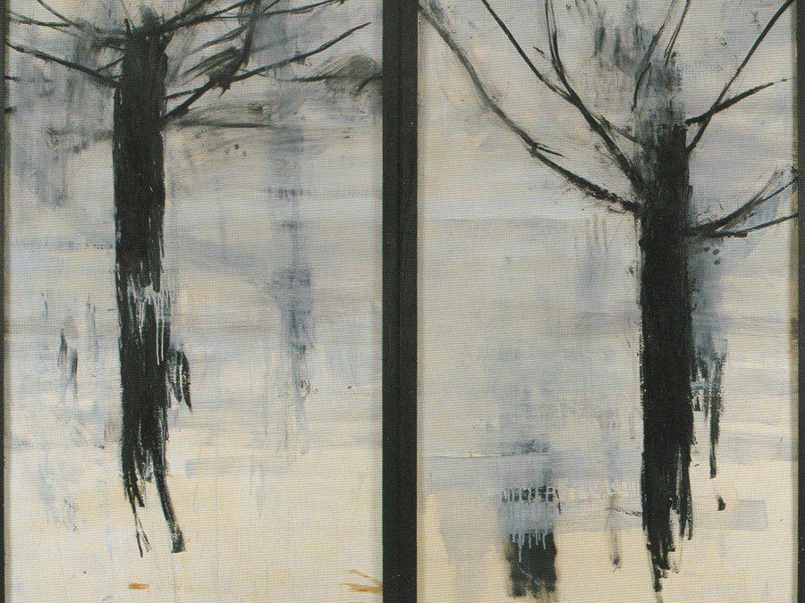 Bon Jour Vincent, 2002, tecnica mista su legno, cm 188 x 183.
