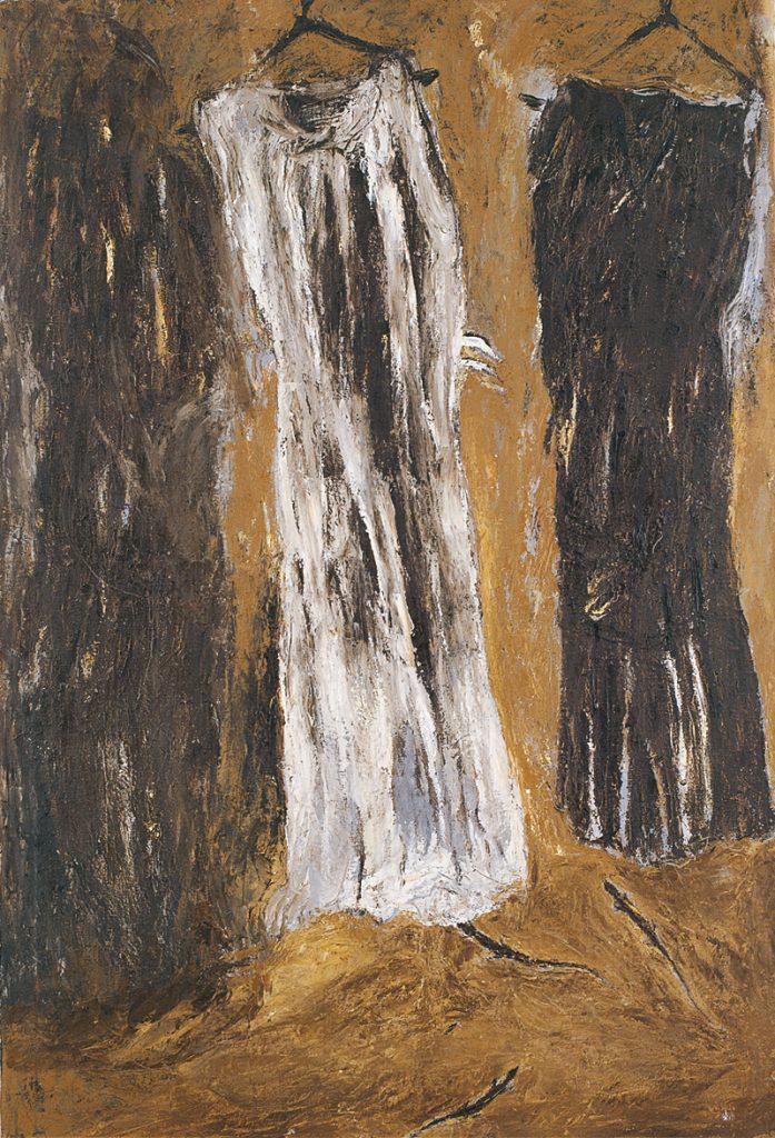 Come fosse un giorno di vento, 1983, olio su tela, cm 210 x 140.