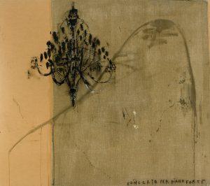 Concerto per pianoforte, tecnica mista su tela, cm 208 x 240.