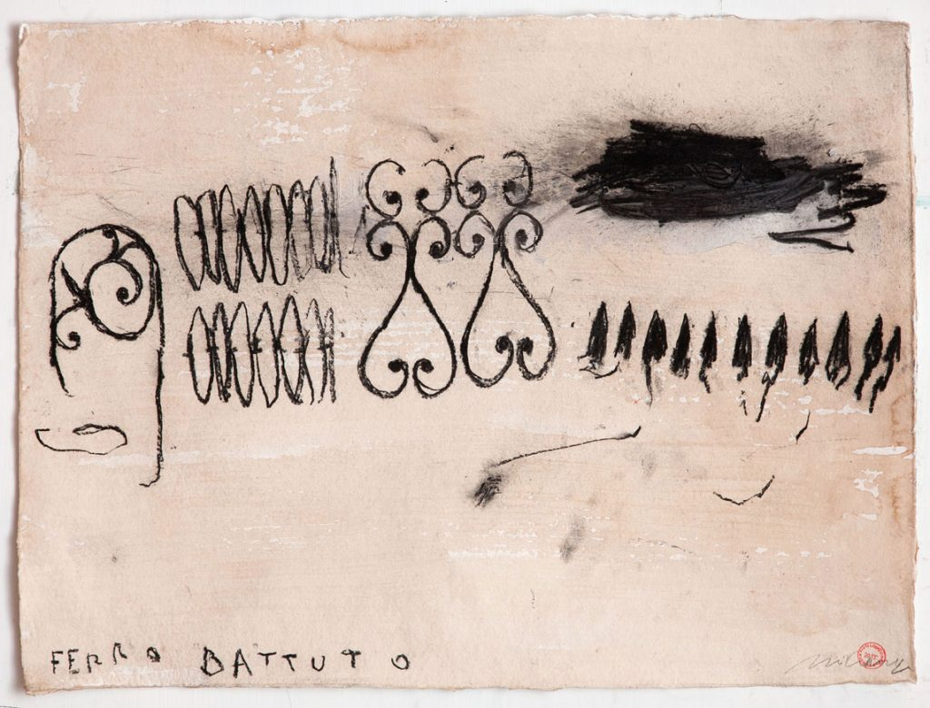 Ferro battuto, 2015, tecnica mista su carta, cm 56 x 76
