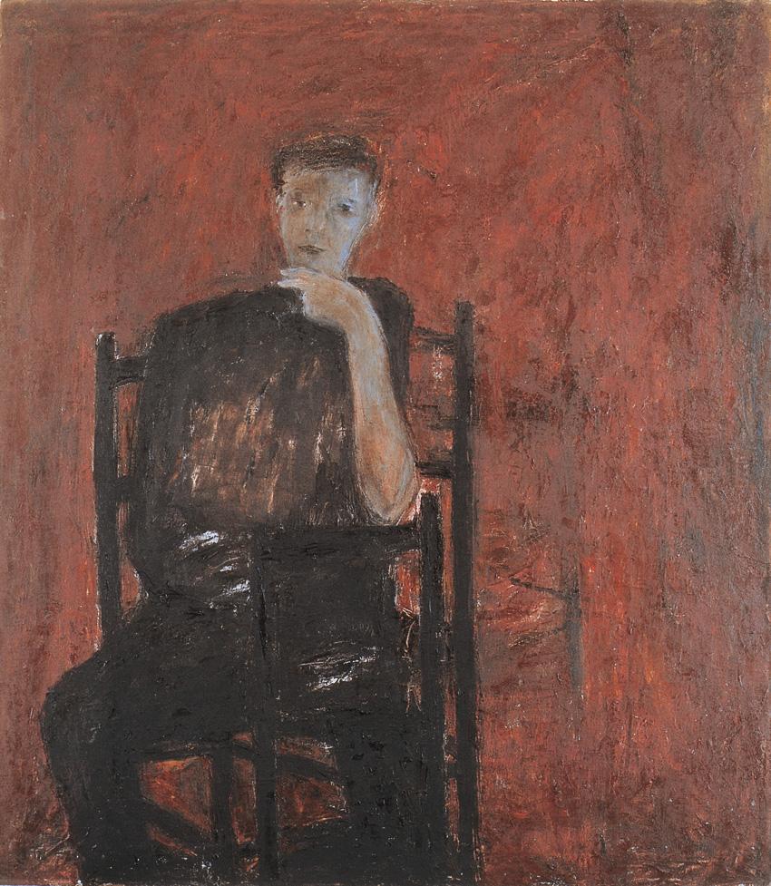 Gentile d'ansia, 1983, olio su tela,cm 160 x 140.