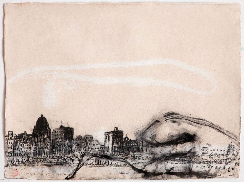 La Habana, 2015, tecnica mista su carta, cm 56 x 76