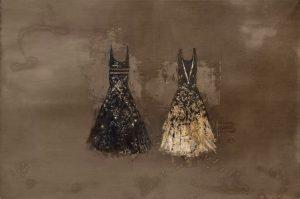 Le Regine, 2012, tecnica mista su tela, cm 290 x 445.