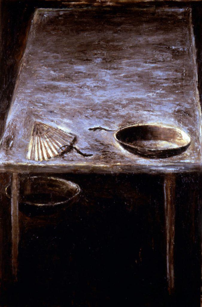 Lievi spostamenti, 1983, olio su tela, cm 200x135.