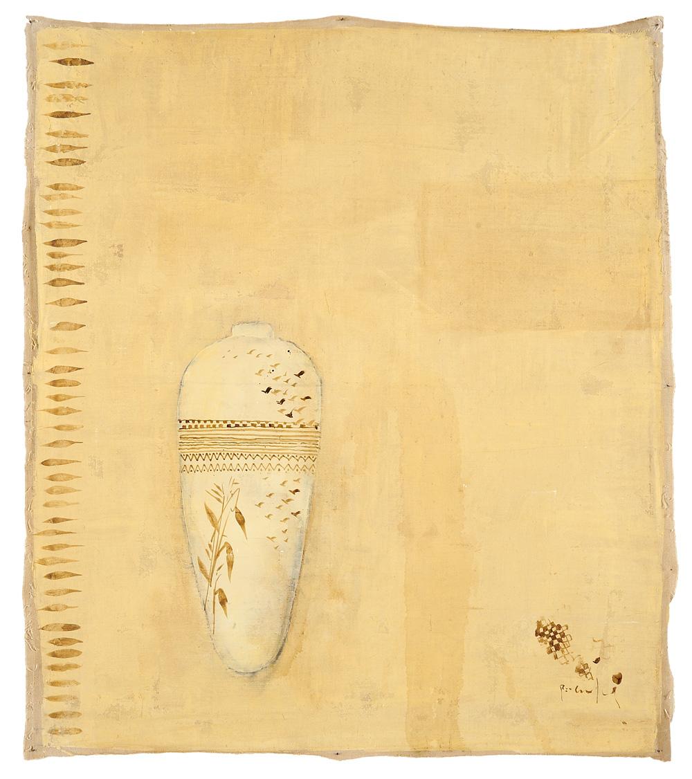 Ombra cinese, 2009, tecnica mista su tela, cm 102 x 90.