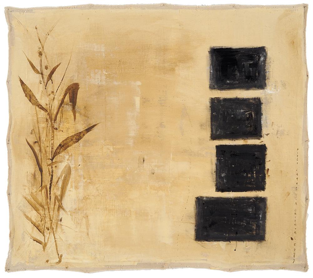 Orientale, 2009, tecnica mista su tela, cm 90 x 104.