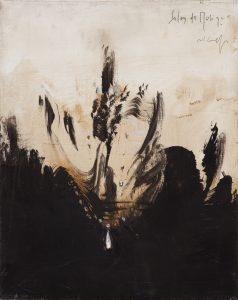 Salon de Musique, 2012, tecnica mista su tela, cm 50 x 40