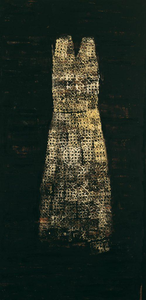 Senza titolo 1998-99, olio su tela, cm 270 x 134.