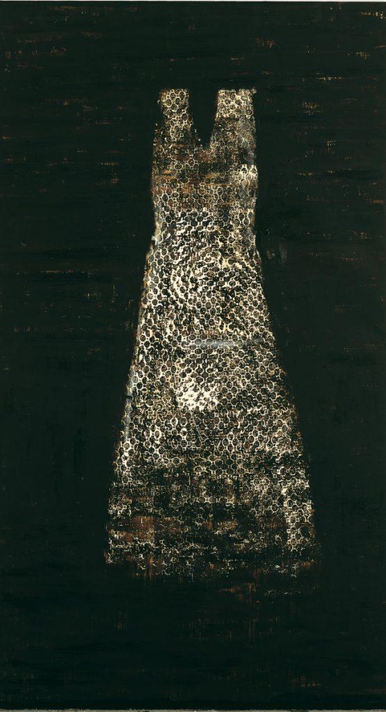 Senza titolo, 1998-99, olio su tela, cm 270 x 150.