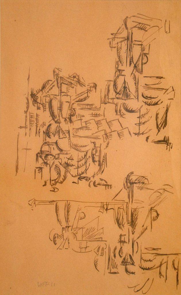 Soffici, Donna alla toeletta, 1913, inchiostro su carta, cm 27,5 x 18. Courtesy Estorick Collection, London