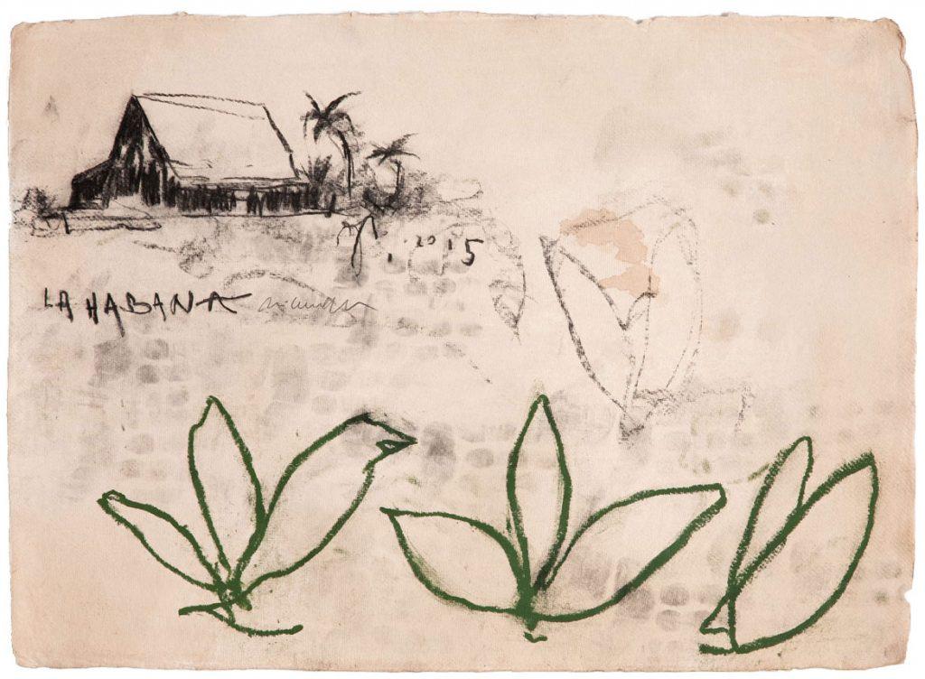 Tabac, 2015, tecnica mista su carta, cm 56 x 76