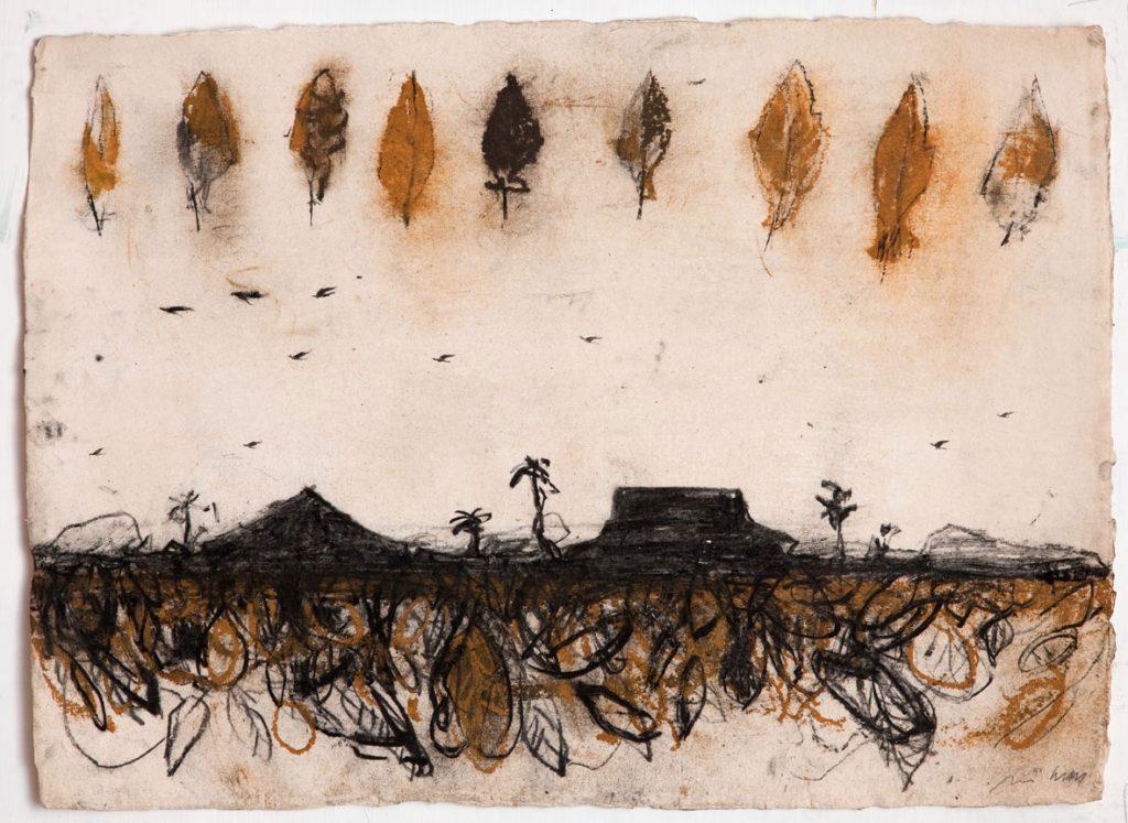 Tabacco, 2015, tecnica mista su carta, cm 56 x 76