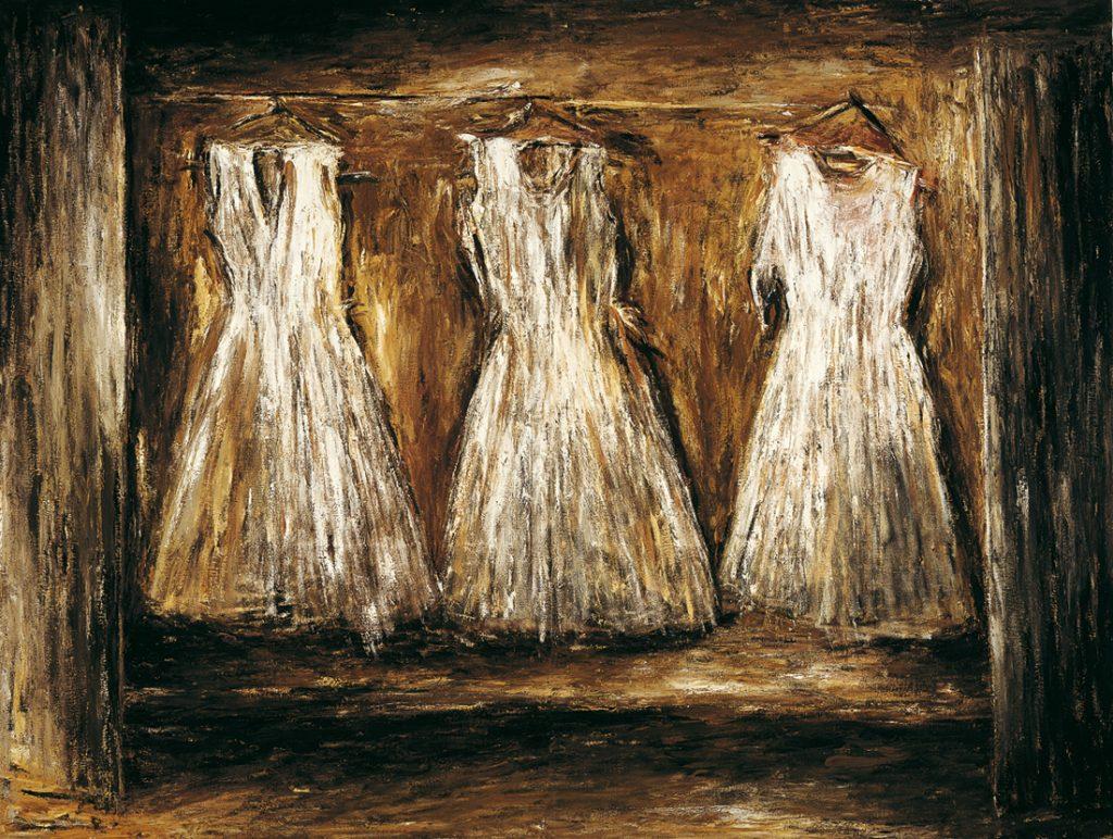 Trittico della fortuna, 1984, olio su tela, cm 260 x 360.