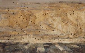 Veduta o marina grande, olio su tela, cm 140 x 200.
