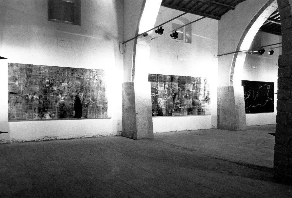 Allestimento della mostra al Museo Civico di Gibellina