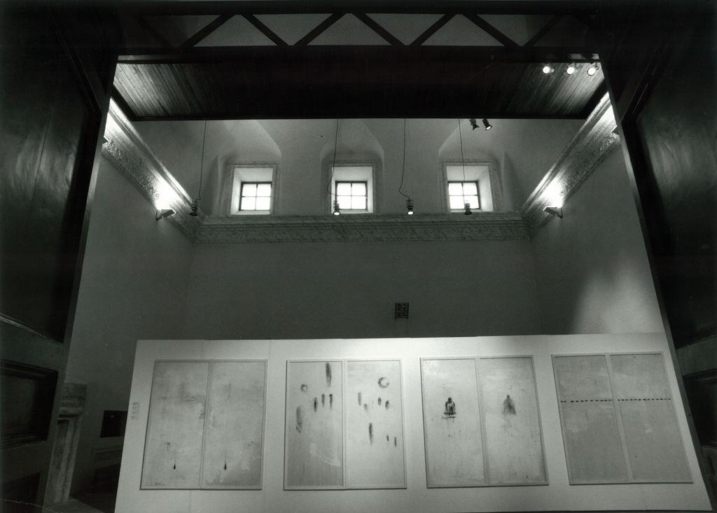 Allestimento della mostra Polittici a Genazzano - Foto di Claudio Abate.