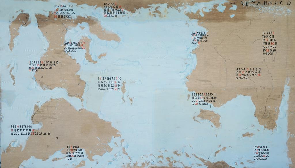 Almanacco, 2004, tecnica mista su tela, cm 290 x 500.