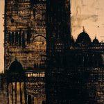 Cattedrale - Febbraio, 2004, tecnica mista su tela, cm 400 x 210.