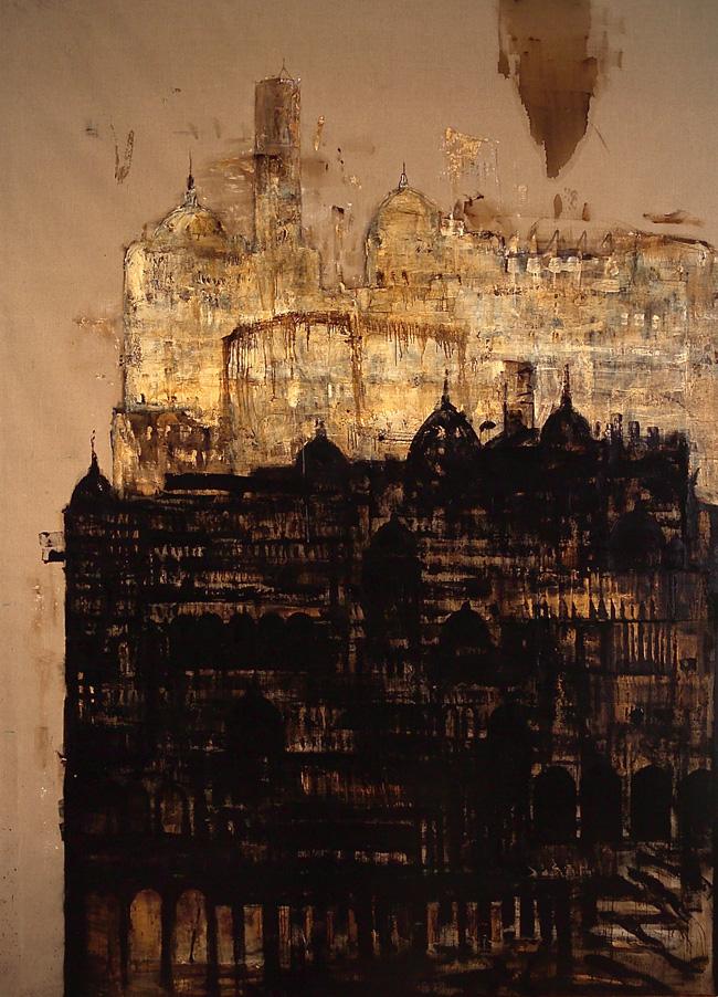 Cattedrale-Maggio, 2004 - 05, tecnica mista su tela, cm 400 x 290.