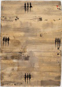 Il viaggio, invito al viaggio per giovani signori, 2009-10, tecnica mista su carta, cm 130 x 90.