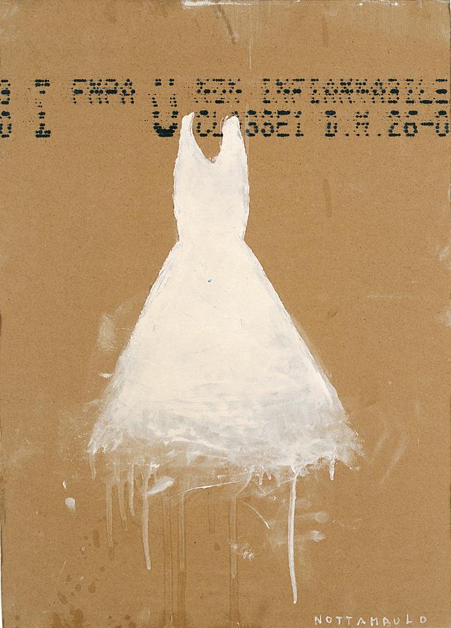 Nottambulo, 2003, olio su legno, cm 70 x 50.