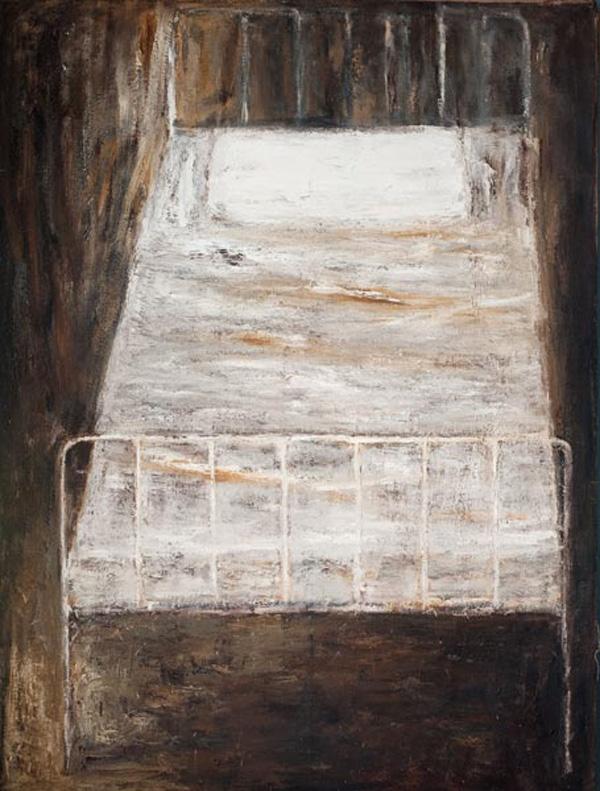 Notturno Vagabondo - Olio su tela - 1984 - cm 200 x 150.