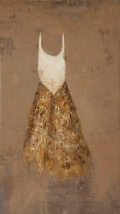 Regina, 2012, tecnica mista su tela, cm 165 x 95.
