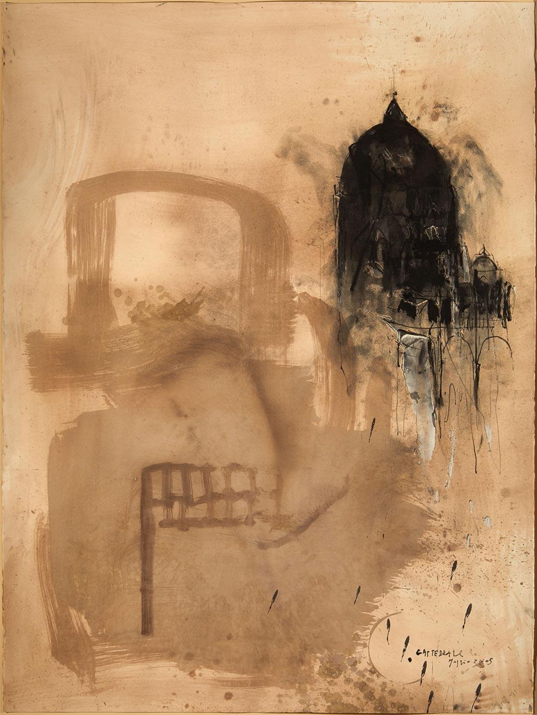 Cattedrale, maggio, 2005, tecnica mista su carta, cm 155x120